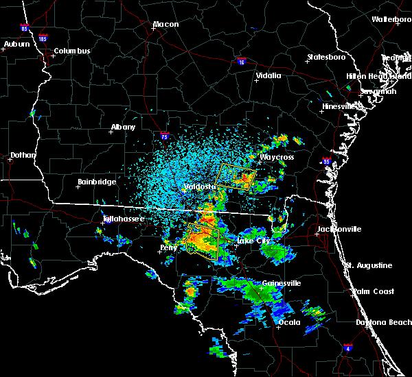 Radar Image for Severe Thunderstorms near Homerville, GA at 7/13/2017 3:51 PM EDT