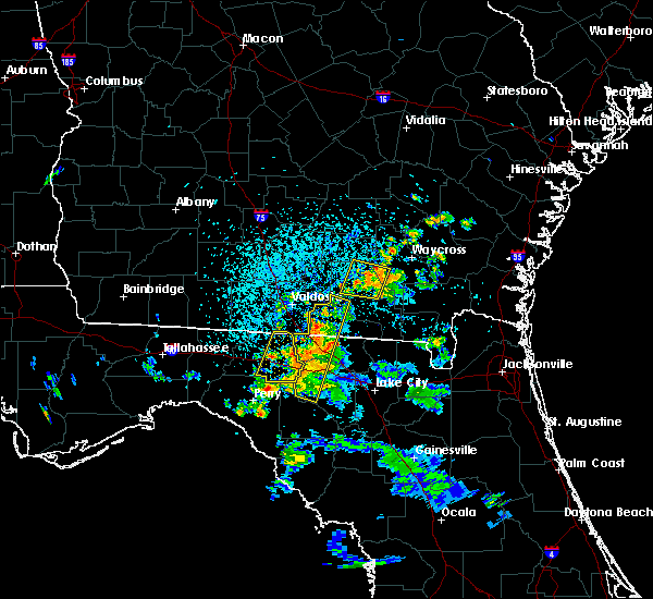 Radar Image for Severe Thunderstorms near Homerville, GA at 7/13/2017 4:10 PM EDT
