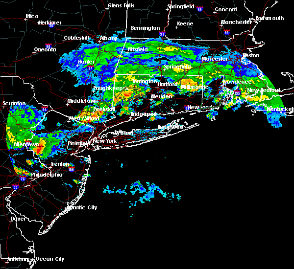 Radar Image for Severe Thunderstorms near Waterbury, CT at 7/13/2017 4:36 PM EDT