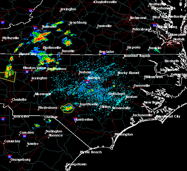 Radar Image for Severe Thunderstorms near Fayetteville, NC at 7/13/2017 4:43 PM EDT