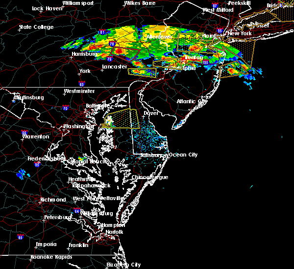 Radar Image for Severe Thunderstorms near Kingstown, MD at 7/13/2017 5:19 PM EDT