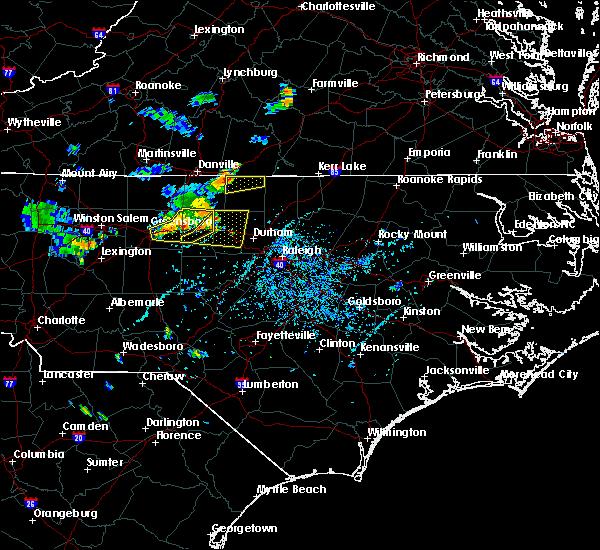 Radar Image for Severe Thunderstorms near Virgilina, VA at 7/13/2017 6:04 PM EDT