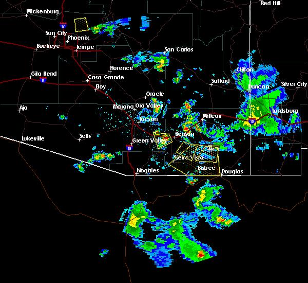 Radar Image for Severe Thunderstorms near Douglas, AZ at 7/13/2017 5:46 PM MST