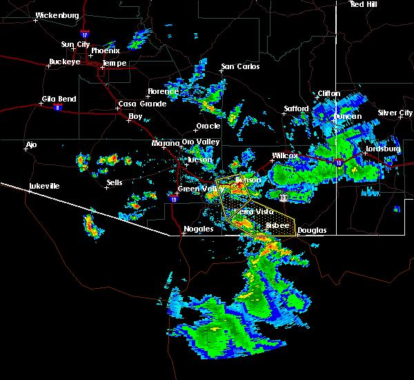 Radar Image for Severe Thunderstorms near Douglas, AZ at 7/13/2017 6:34 PM MST