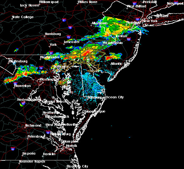 Radar Image for Severe Thunderstorms near Claymont, DE at 7/14/2017 3:28 PM EDT