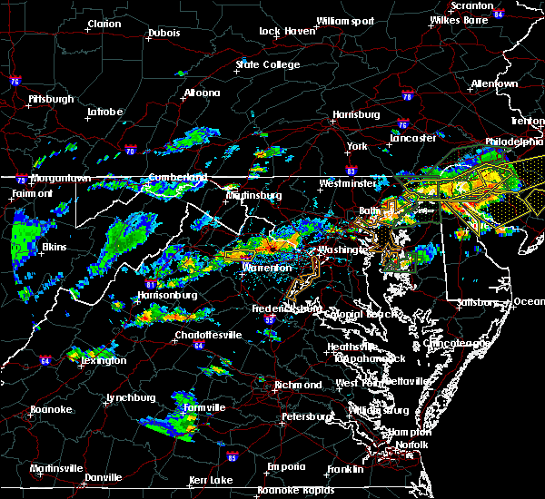 Radar Image for Severe Thunderstorms near The Plains, VA at 7/14/2017 4:01 PM EDT