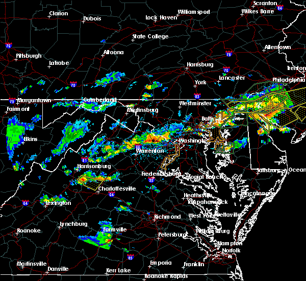 Radar Image for Severe Thunderstorms near Twin Lakes, VA at 7/14/2017 4:08 PM EDT