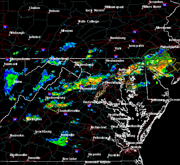 Radar Image for Severe Thunderstorms near Vienna, VA at 7/14/2017 4:17 PM EDT