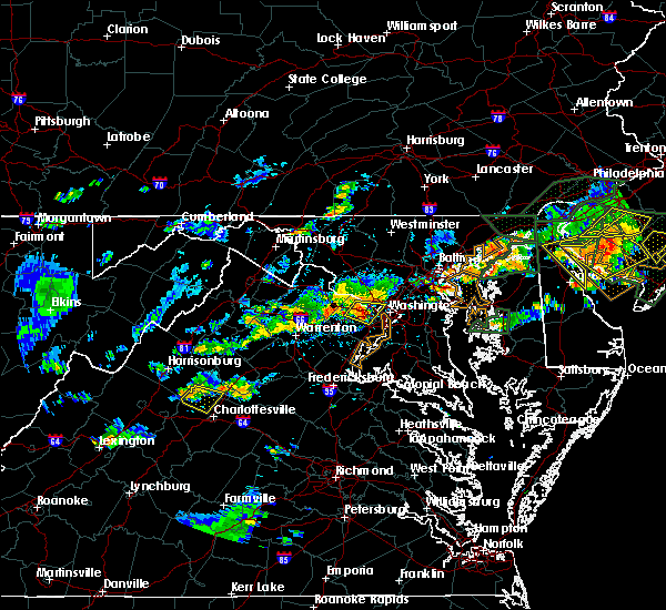 Radar Image for Severe Thunderstorms near Vienna, VA at 7/14/2017 4:23 PM EDT