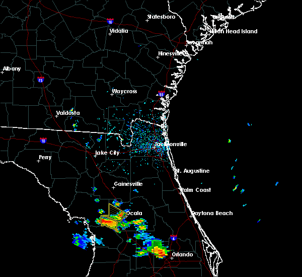 Radar Image for Severe Thunderstorms near Ocala, FL at 7/14/2017 5:25 PM EDT