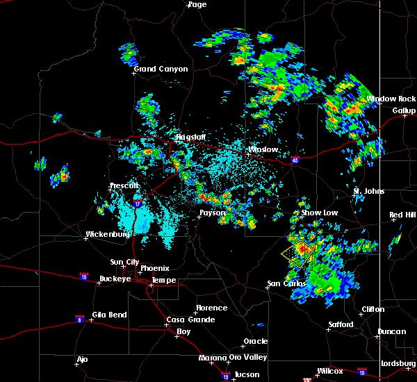 Radar Image for Severe Thunderstorms near Cedar Creek, AZ at 7/15/2017 1:07 PM MST