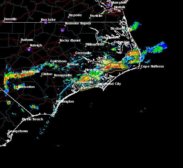 Radar Image for Severe Thunderstorms near Jacksonville, NC at 7/15/2017 5:48 PM EDT
