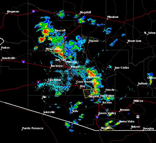 Radar Image for Severe Thunderstorms near Marana, AZ at 7/15/2017 5:07 PM MST