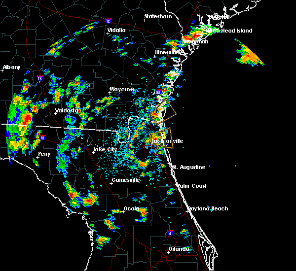 Radar Image for Severe Thunderstorms near Jacksonville, FL at 7/16/2017 1:58 PM EDT