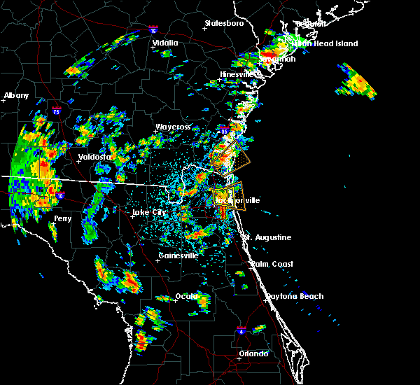 Radar Image for Severe Thunderstorms near Jacksonville, FL at 7/16/2017 2:13 PM EDT