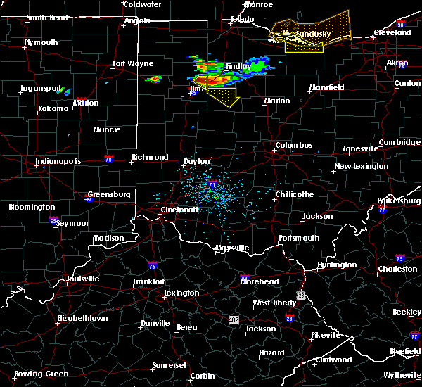 Radar Image for Severe Thunderstorms near Kenton, OH at 7/16/2017 6:06 PM EDT
