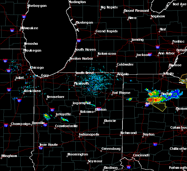 Radar Image for Severe Thunderstorms near Bluffton, OH at 7/16/2017 6:06 PM EDT