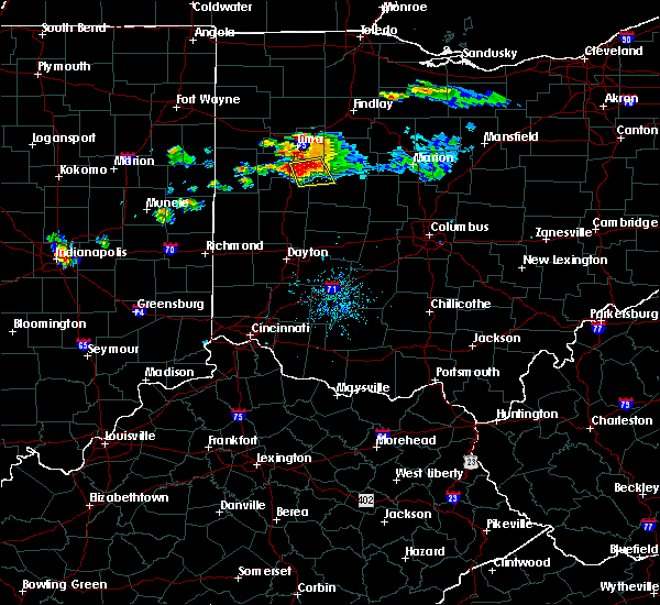 Radar Image for Severe Thunderstorms near Jackson Center, OH at 7/16/2017 8:05 PM EDT