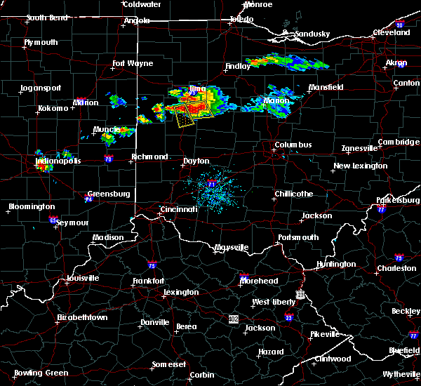 Radar Image for Severe Thunderstorms near Sidney, OH at 7/16/2017 8:14 PM EDT
