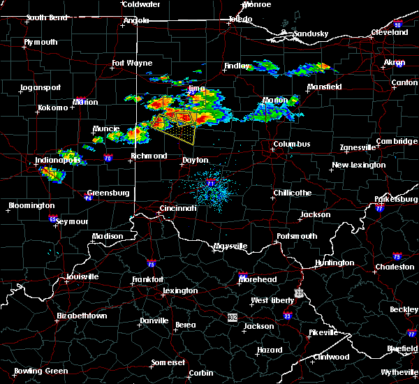 Radar Image for Severe Thunderstorms near Piqua, OH at 7/16/2017 8:50 PM EDT