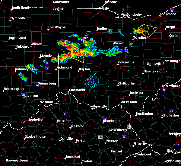 Radar Image for Severe Thunderstorms near Piqua, OH at 7/16/2017 9:09 PM EDT