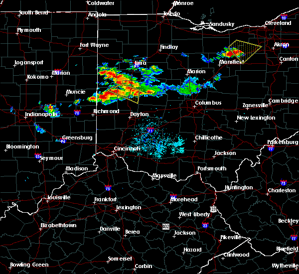 Radar Image for Severe Thunderstorms near Bradford, OH at 7/16/2017 9:24 PM EDT
