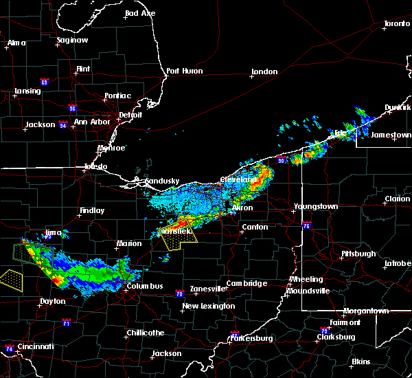 Radar Image for Severe Thunderstorms near Lucas, OH at 7/16/2017 9:51 PM EDT