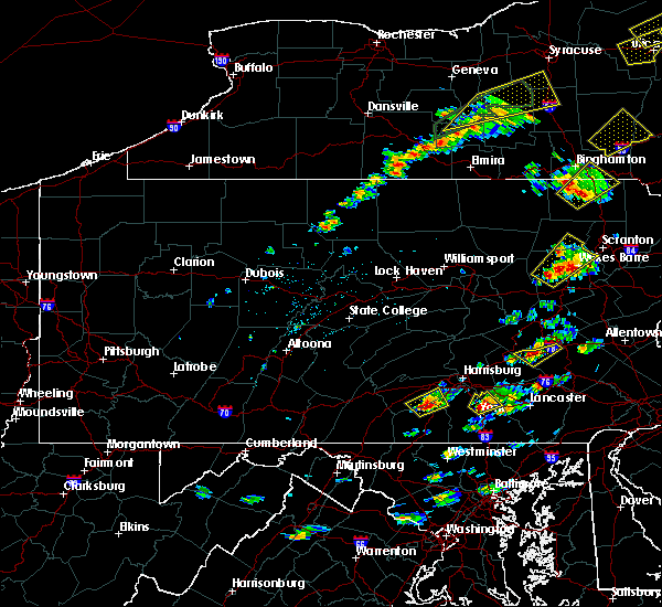Radar Image for Severe Thunderstorms near Bethel, PA at 7/17/2017 1:23 PM EDT