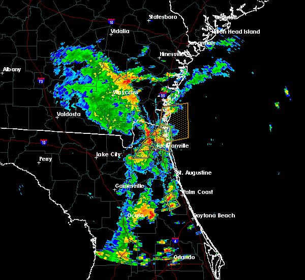 Radar Image for Severe Thunderstorms near Jacksonville, FL at 7/17/2017 3:57 PM EDT