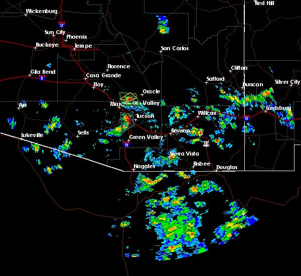 Radar Image for Severe Thunderstorms near Saddlebrooke, AZ at 7/17/2017 2:15 PM MST