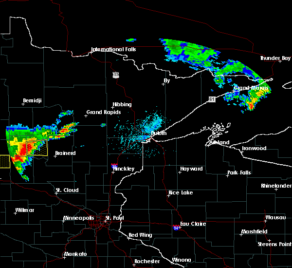 Radar Image for Severe Thunderstorms near Lake Shore, MN at 7/17/2017 4:49 PM CDT