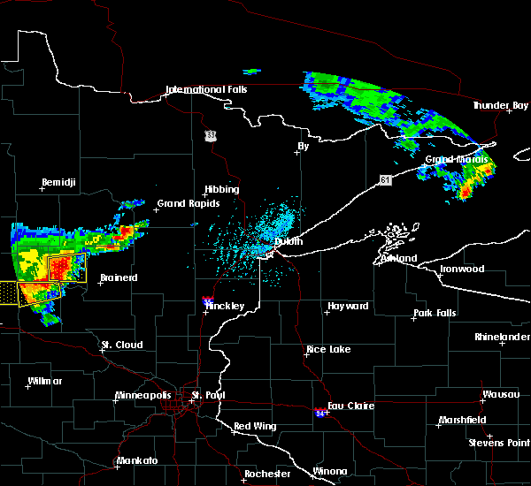 Radar Image for Severe Thunderstorms near Lake Shore, MN at 7/17/2017 4:58 PM CDT