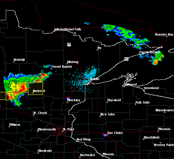 Radar Image for Severe Thunderstorms near Pequot Lakes, MN at 7/17/2017 5:08 PM CDT