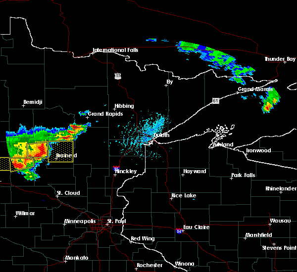 Radar Image for Severe Thunderstorms near Lake Shore, MN at 7/17/2017 5:11 PM CDT