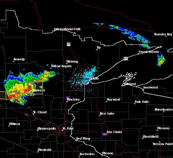 Radar Image for Severe Thunderstorms near Pequot Lakes, MN at 7/17/2017 5:24 PM CDT