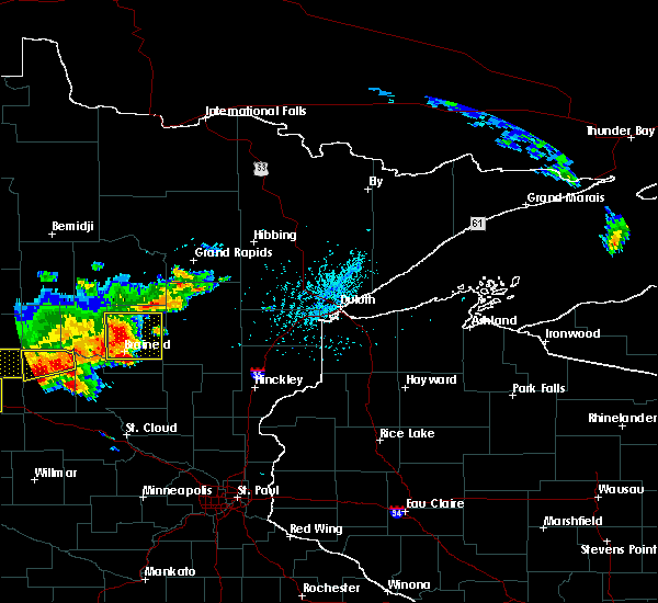 Radar Image for Severe Thunderstorms near Pequot Lakes, MN at 7/17/2017 5:31 PM CDT