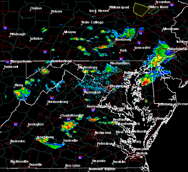 Radar Image for Severe Thunderstorms near Dawson, MD at 7/17/2017 6:34 PM EDT