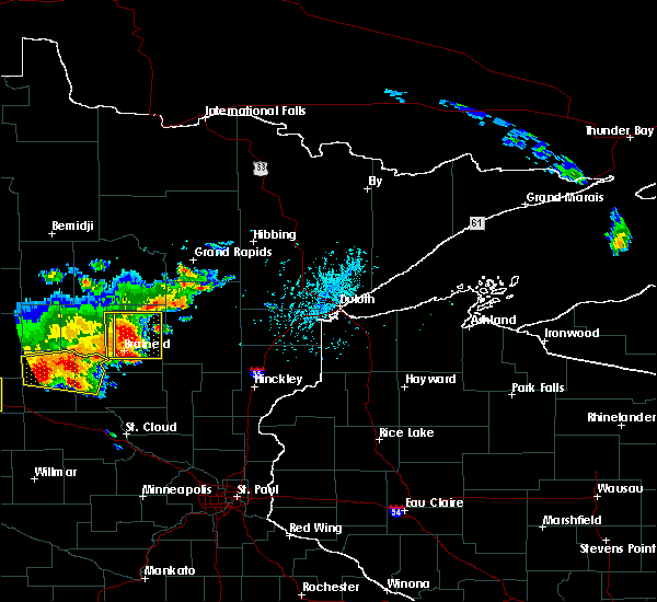 Radar Image for Severe Thunderstorms near Pequot Lakes, MN at 7/17/2017 5:37 PM CDT