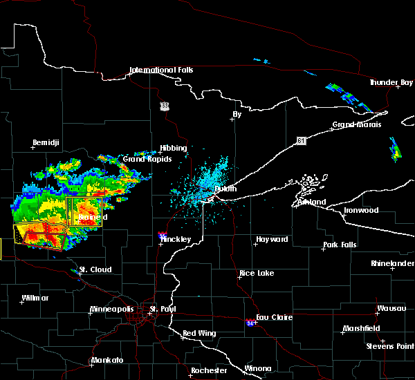 Radar Image for Severe Thunderstorms near Pequot Lakes, MN at 7/17/2017 5:46 PM CDT