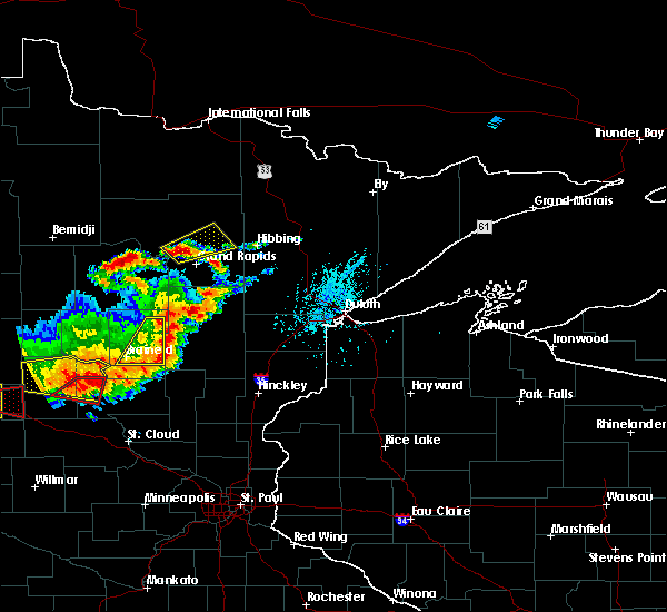 Radar Image for Severe Thunderstorms near Cohasset, MN at 7/17/2017 5:59 PM CDT