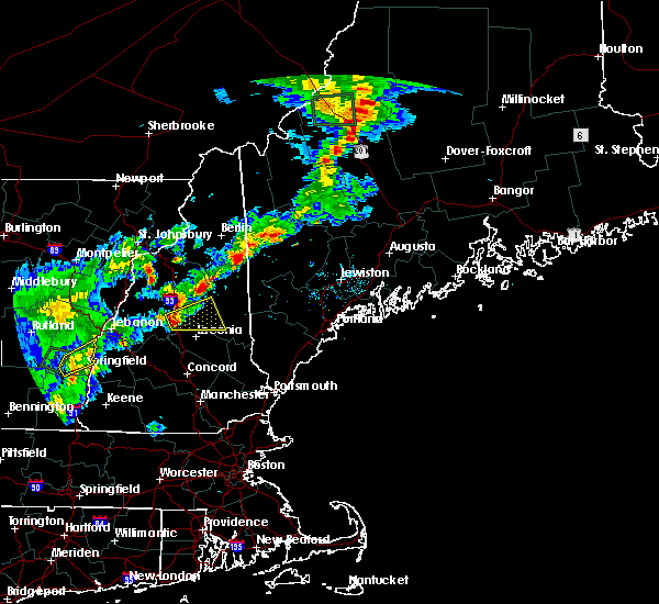 Radar Image for Severe Thunderstorms near Melvin Village, NH at 7/17/2017 7:09 PM EDT