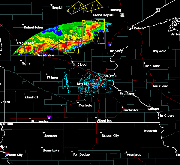 Radar Image for Severe Thunderstorms near Lastrup, MN at 7/17/2017 6:15 PM CDT