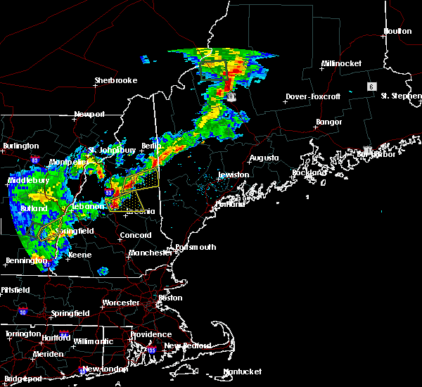 Radar Image for Severe Thunderstorms near Bartlett, NH at 7/17/2017 7:15 PM EDT