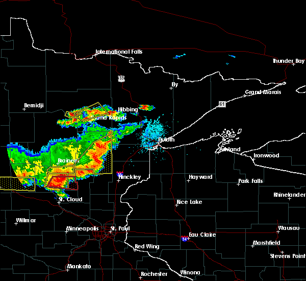 Radar Image for Severe Thunderstorms near Deer River, MN at 7/17/2017 6:35 PM CDT