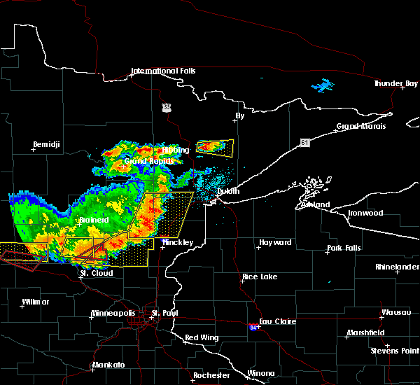 Radar Image for Severe Thunderstorms near Aurora, MN at 7/17/2017 6:56 PM CDT
