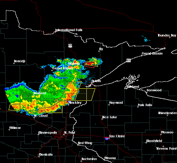Radar Image for Severe Thunderstorms near Aurora, MN at 7/17/2017 7:22 PM CDT