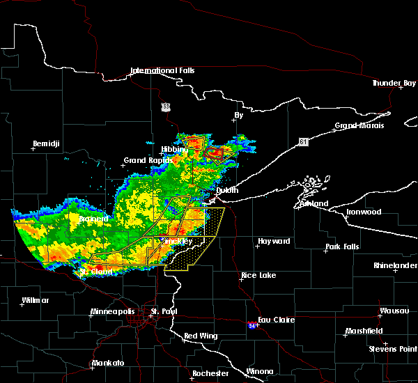 Radar Image for Severe Thunderstorms near Pine City, MN at 7/17/2017 7:44 PM CDT