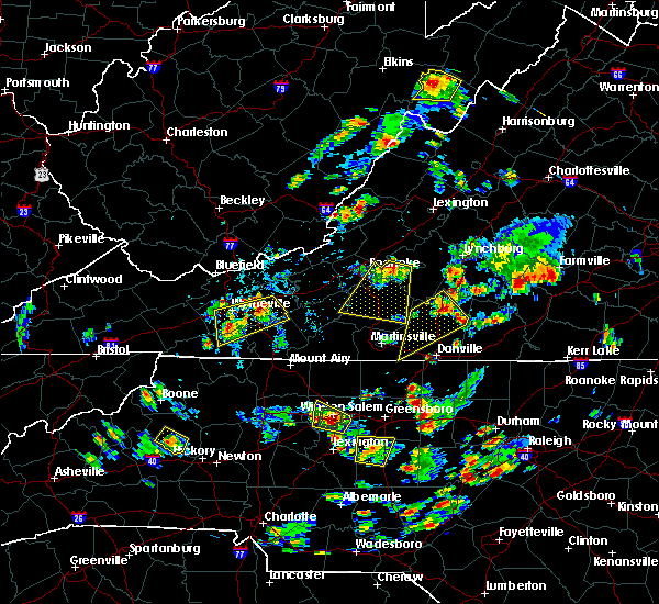 Radar Image for Severe Thunderstorms near Blairs, VA at 7/18/2017 4:52 PM EDT