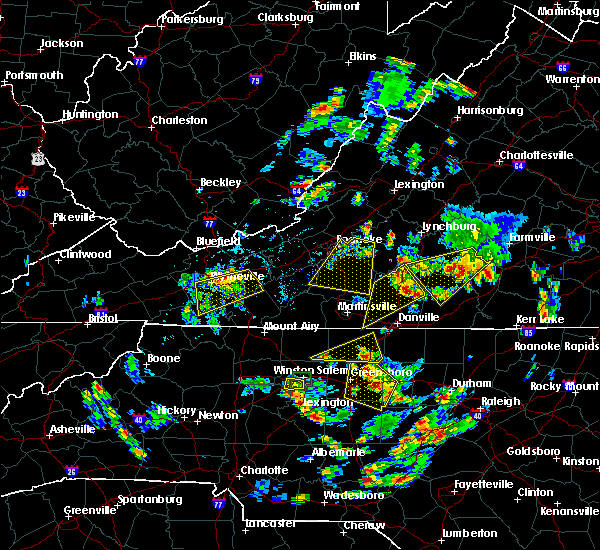 Radar Image for Severe Thunderstorms near Blairs, VA at 7/18/2017 5:27 PM EDT