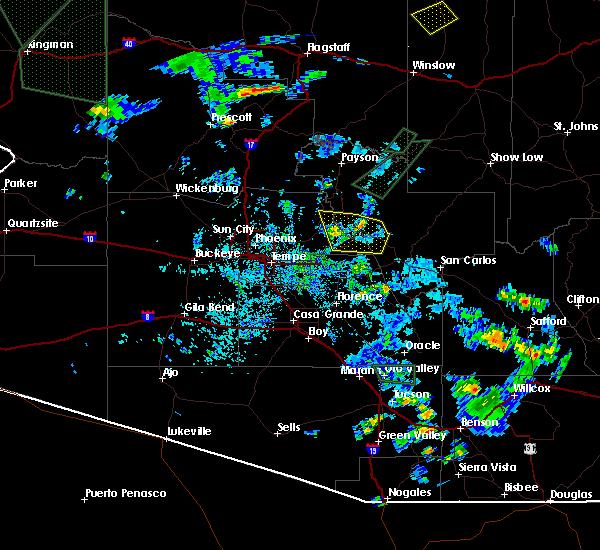 Radar Image for Severe Thunderstorms near Rock House, AZ at 7/18/2017 3:24 PM MST